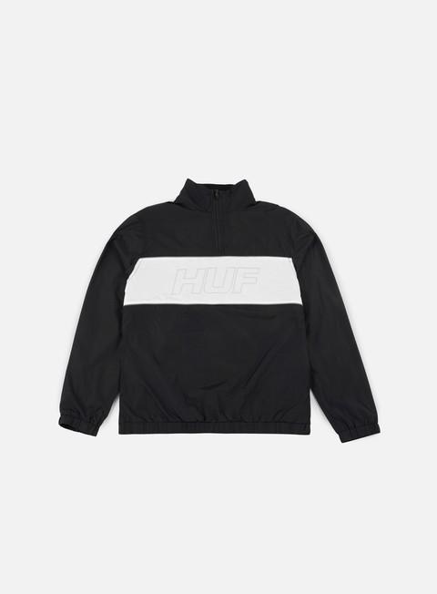 giacche huf stadium half zip track jacket black