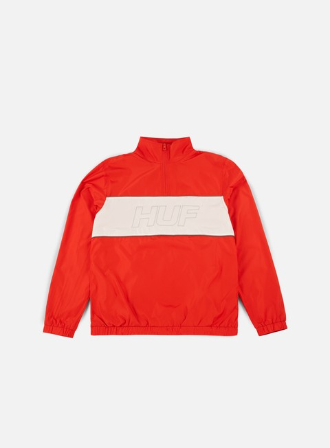 giacche huf stadium half zip track jacket red