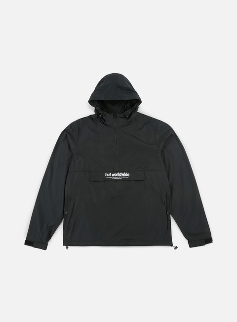 giacche huf stadium offsides anorak black