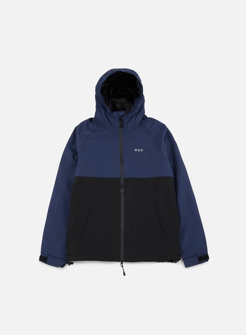 giacche huf standard shell jacket navy black
