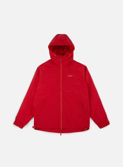 giacche huf standard shell jacket red