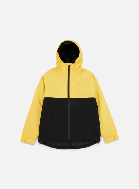 giacche huf standard shell jacket yellow black