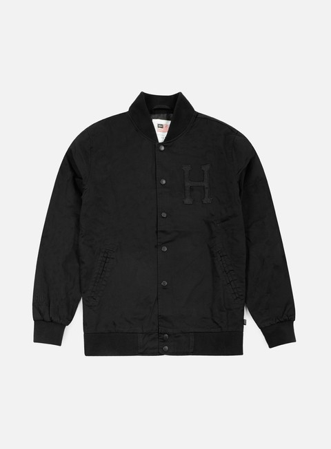 giacche huf thrasher baseball jacket black