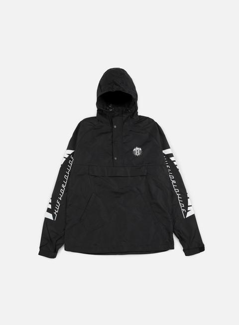 giacche huf thrasher tds anorak jacket black