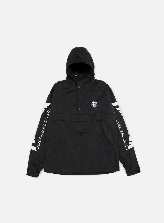 Huf - Thrasher TDS Anorak Jacket, Black