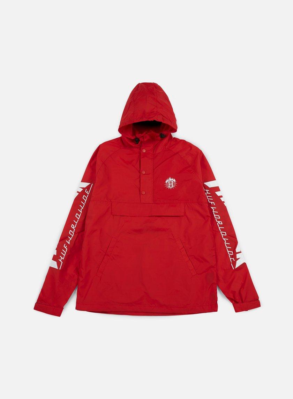 Huf - Thrasher TDS Anorak Jacket, Red