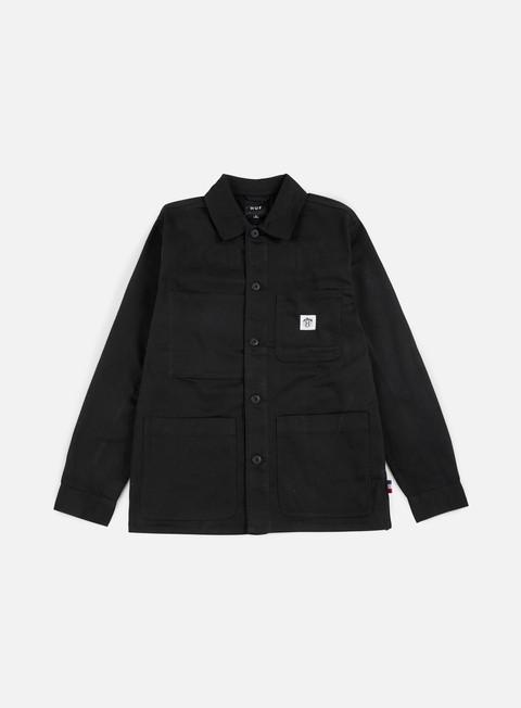 giacche huf thrasher tds chore jacket black