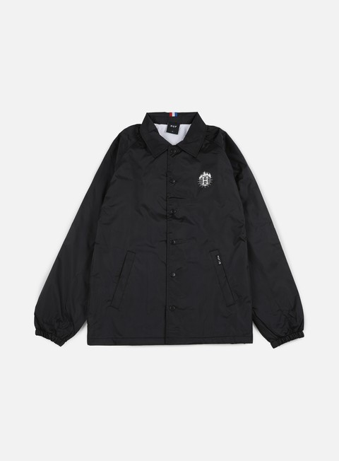 giacche huf thrasher tds coach jacket black