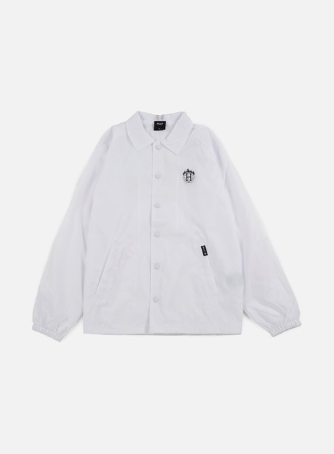 giacche huf thrasher tds coach jacket white