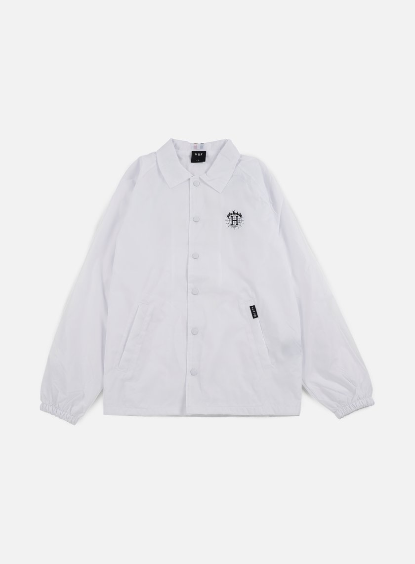 Huf - Thrasher TDS Coach Jacket, White