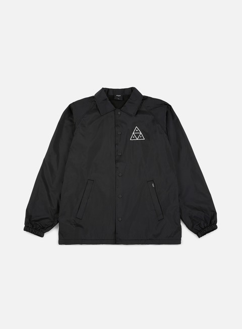 giacche huf triple triangle coaches jacket black