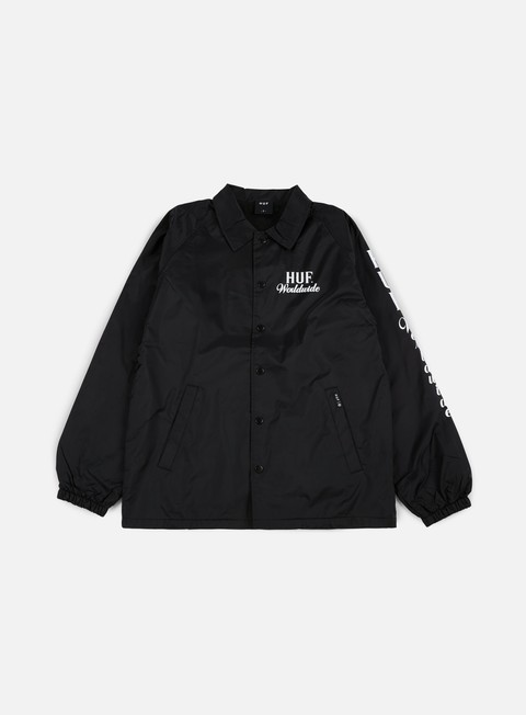 giacche huf ultra coach jacket black