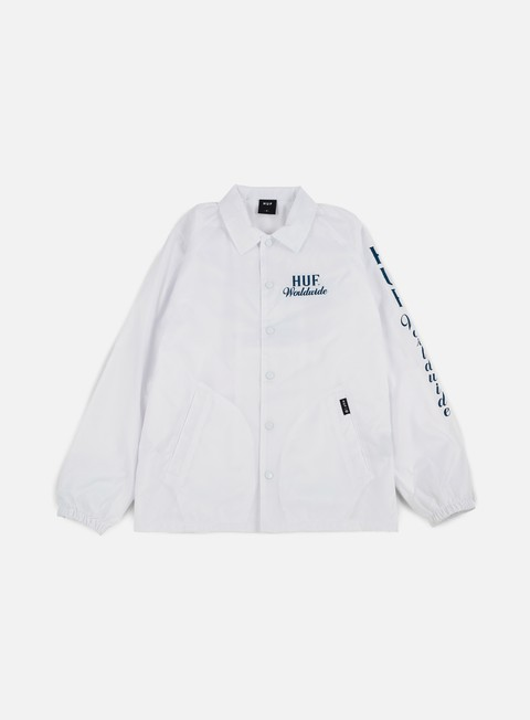 giacche huf ultra coach jacket white