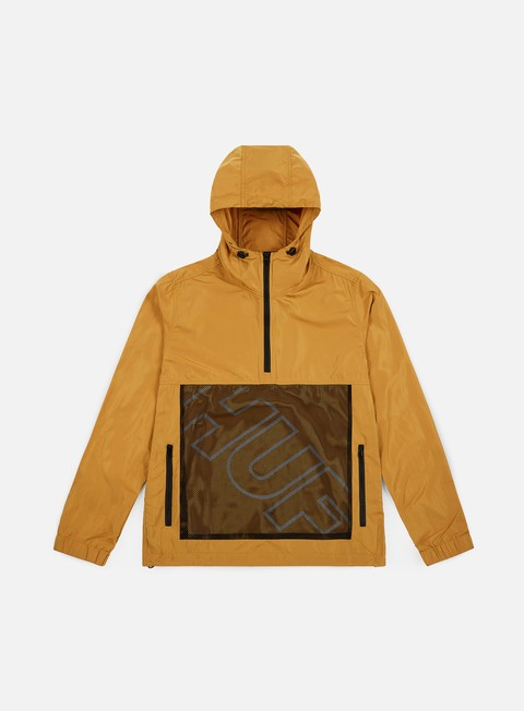 giacche huf wire frame anorak honey mustard