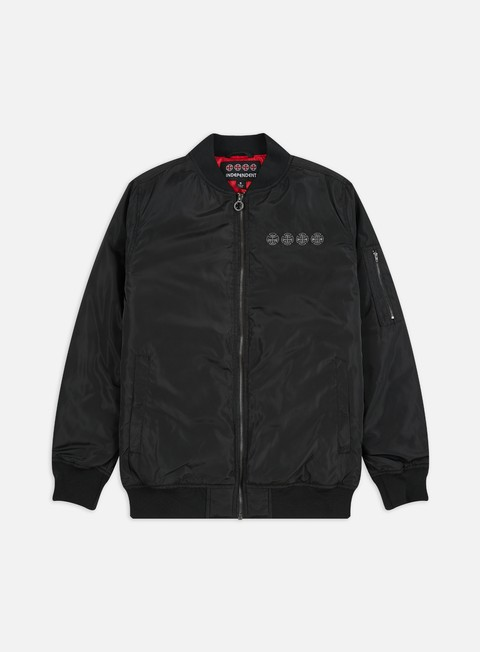 Bomber Jackets Independent Chain Cross Bomber Jacket
