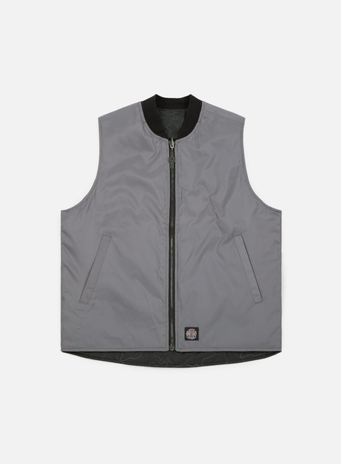 giacche independent core vest jacket black grey stitch