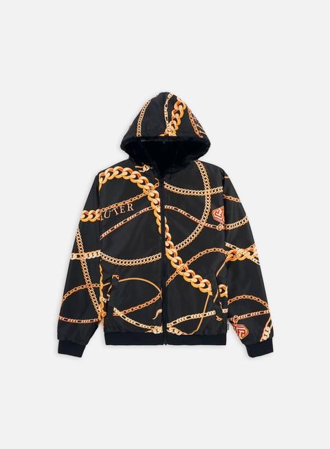 Giacche Intermedie Iuter Solid Fur Zip Hood Jacket