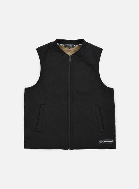 giacche iuter teddybear vest black