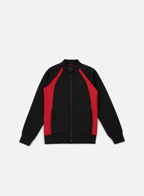 giacche jordan flight tech jacket black black gym red