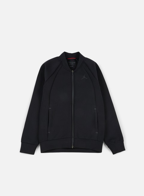 giacche jordan flight teck jacket black black