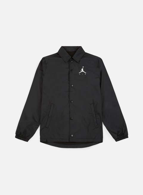 giacche jordan jumpman coaches jacket black white