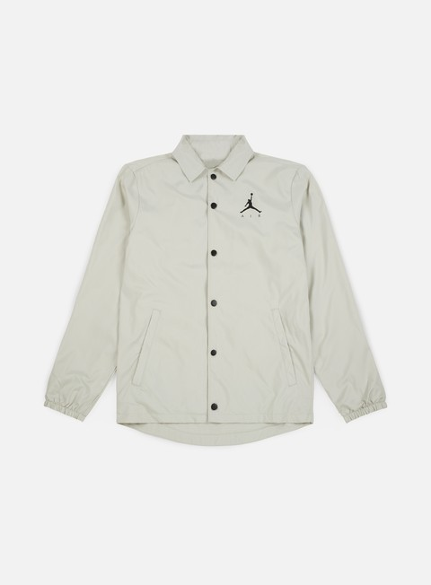 giacche jordan jumpman coaches jacket light bone black