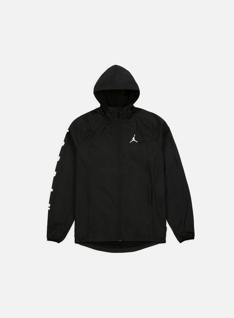 giacche jordan wings gfx windbreaker black white