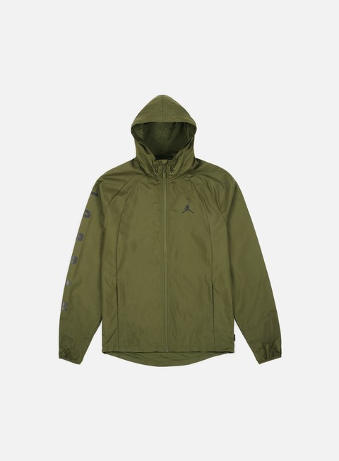 giacche jordan wings gfx windbreaker olive black