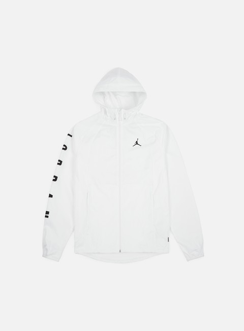 giacche jordan wings gfx windbreaker white black