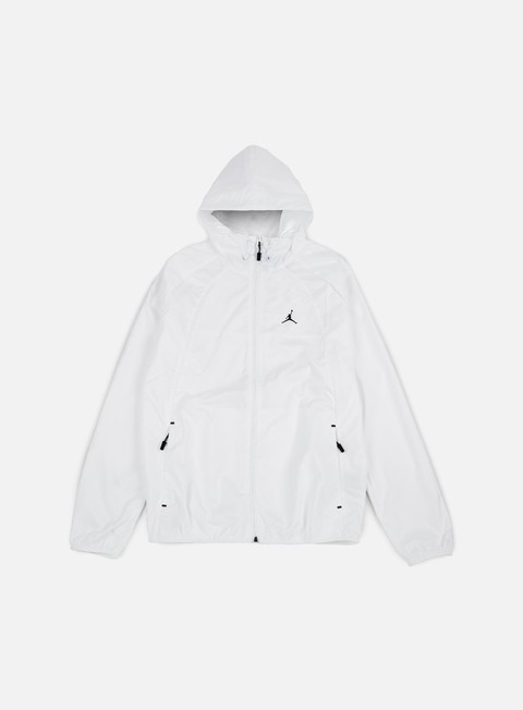 giacche jordan wings windbreaker white black