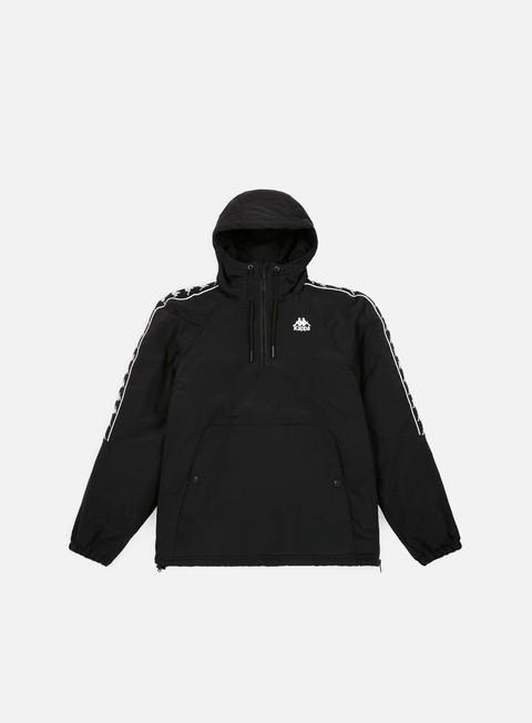 giacche kappa 222 banda amaul jacket black white