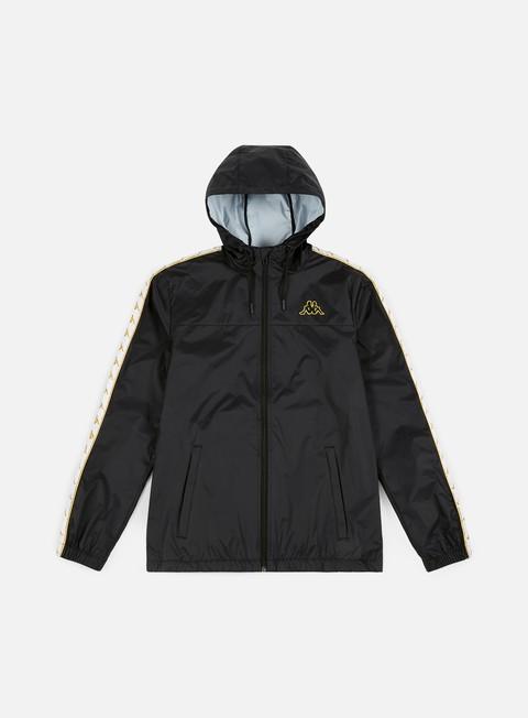giacche kappa 222 banda dawson jacket black white gold