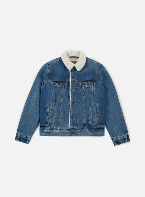 giacche levi s type 3 sherpa trucker jacket needle park