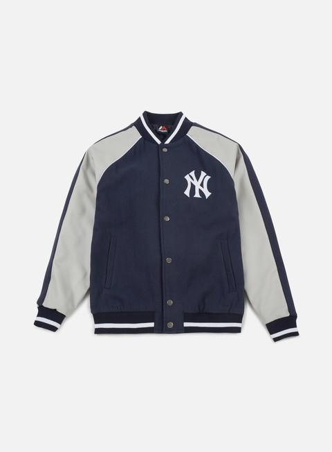 Giacche Intermedie Majestic Melton Letterman Jacket NY Yankees