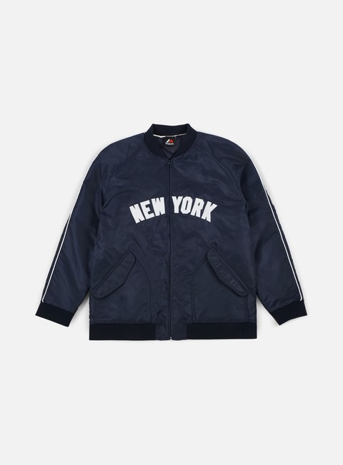 Bomber Majestic Soft Touch Varsity Jacket NY Yankees