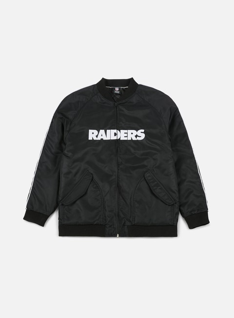 Bomber Majestic Soft Touch Varsity Jacket Oakland Raiders