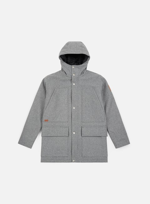giacche makia field jacket light grey wool