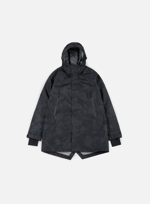 giacche makia storm jacket black camo