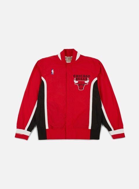 giacche mitchell e ness authentic warm up jacket chicago bulls red