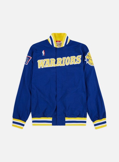 Light Jackets Mitchell & Ness Authentic Warm Up Jacket Golden State Warriors