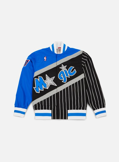 giacche mitchell e ness authentic warm up jacket orlando magic blue black