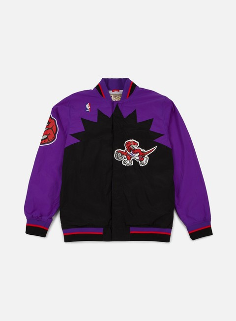 giacche mitchell e ness authentic warm up jacket toronto raptors purple black
