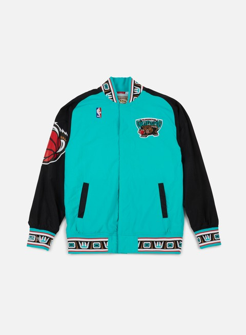 giacche mitchell e ness authentic warm up jacket vancouver grizzlies teal