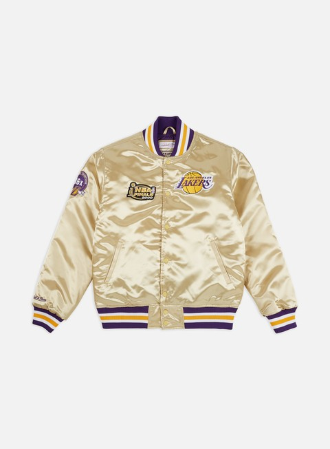 Outlet e Saldi Giacche Intermedie Mitchell & Ness Championship Game Satin Jacket Los Angeles Lakers