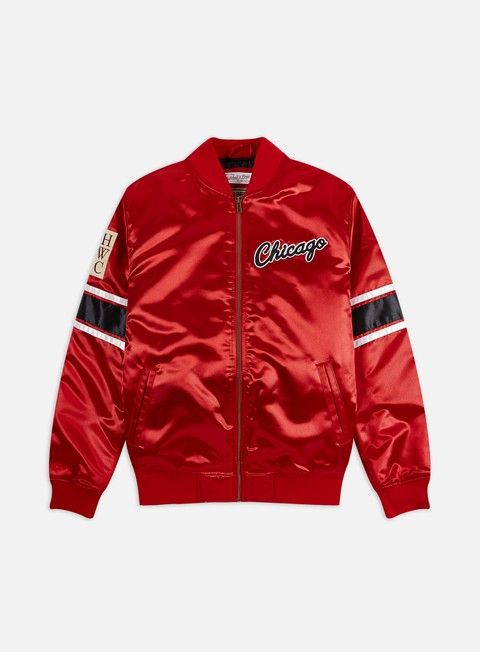 Giacche Intermedie Mitchell & Ness Heavyweight Satin Jacket Chicago Bulls