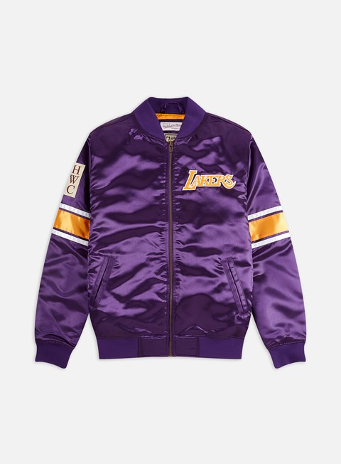 Giacche Intermedie Mitchell & Ness Heavyweight Satin Jacket LA Lakers