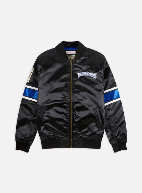 Giacche Intermedie Mitchell & Ness Heavyweight Satin Jacket Minnesota Timberwolves