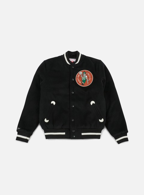 Outlet e Saldi Giacche Intermedie Mitchell & Ness In The Stands Varsity Jacket Boston Celtics