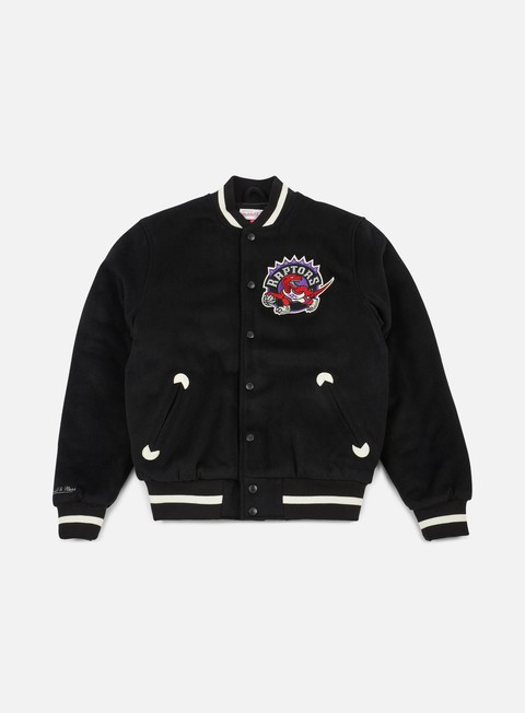 giacche mitchell e ness in the stands varsity jacket toronto raptors black