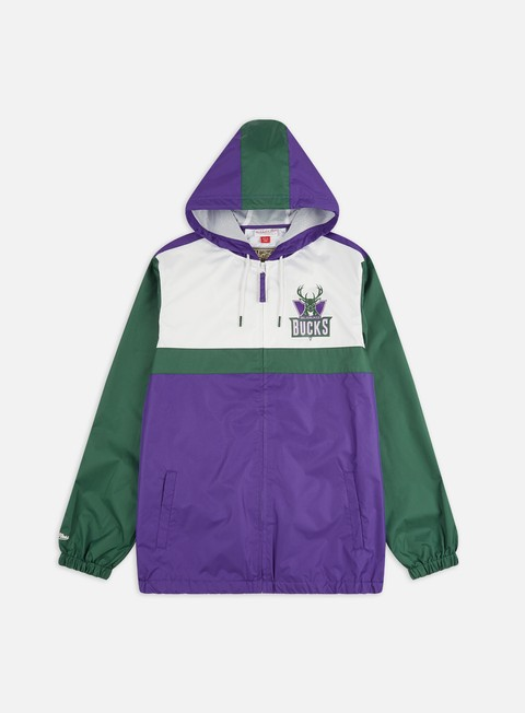 Giacche Leggere Mitchell & Ness Margin Of Victory Windbreaker Milwuaukee Bucks